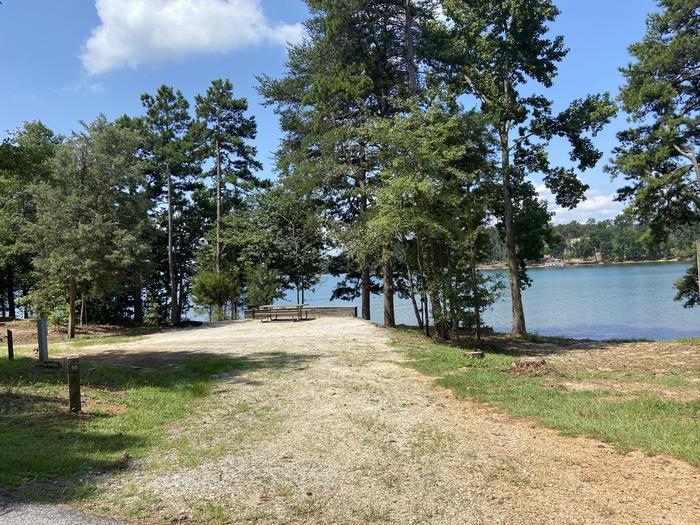 A photo of Site 15 of Loop SPRINGFIELD  at SPRINGFIELD with Picnic Table, Electricity Hookup, Fire Pit, Shade, Tent Pad, Waterfront, Lantern Pole