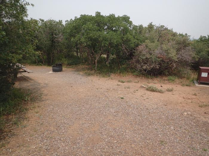 View from parking area of Campsite A-002