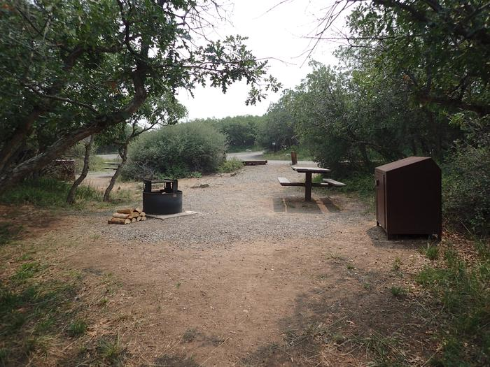 View towards road from back of Campsite A-002