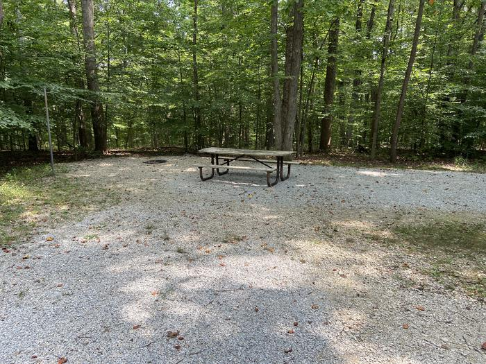 A photo of Site 141 of Loop WOAK at HARDIN RIDGE with Picnic Table, Electricity Hookup, Fire Pit, Shade, Tent Pad, Lantern Pole, Water Hookup