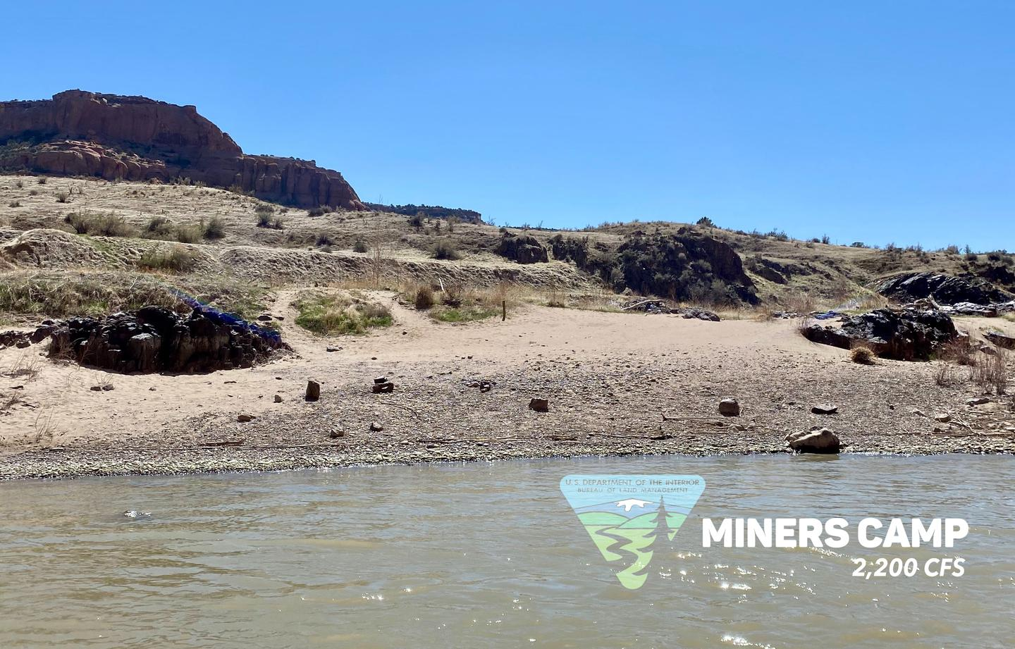 Miners Camp, first camp in the canyon on river-left.Miners Camp