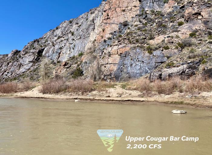 Upper Cougar Camp, river rightUpper Cougar Camp