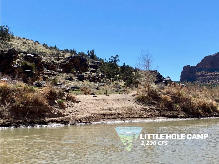 Little Hole Camp, river leftLittle Hole Camp
