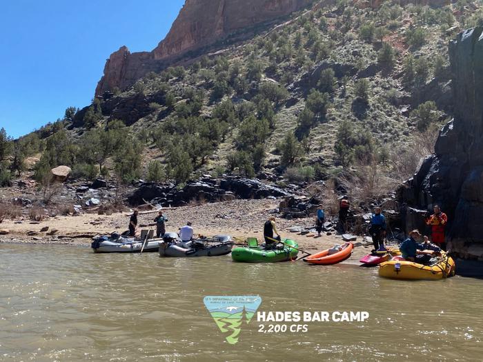 Hades Camp, river-leftHades Camp