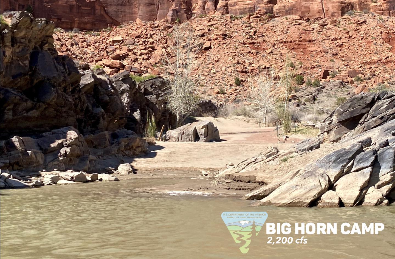 Big Horn Camp, river rightBig Horn Camp