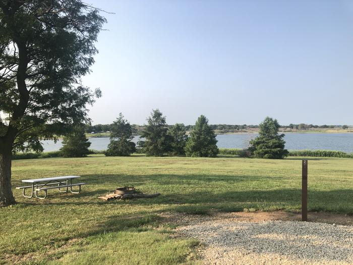 A photo of Site T-002 of Loop WROH at WEST ROLLING HILLS with Picnic Table, Fire Pit, Shade