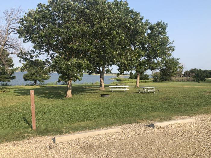 A photo of Site T-006 of Loop WROH at WEST ROLLING HILLS with Picnic Table, Fire Pit, Shade