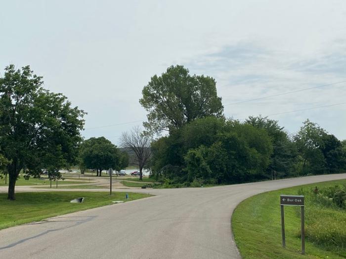 Bur Oak Loop in Slough Creek ParkEntrance to Bur Oak Loop
