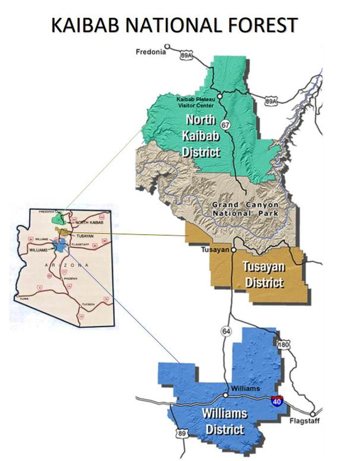 Kaibab National Forest Overview Map