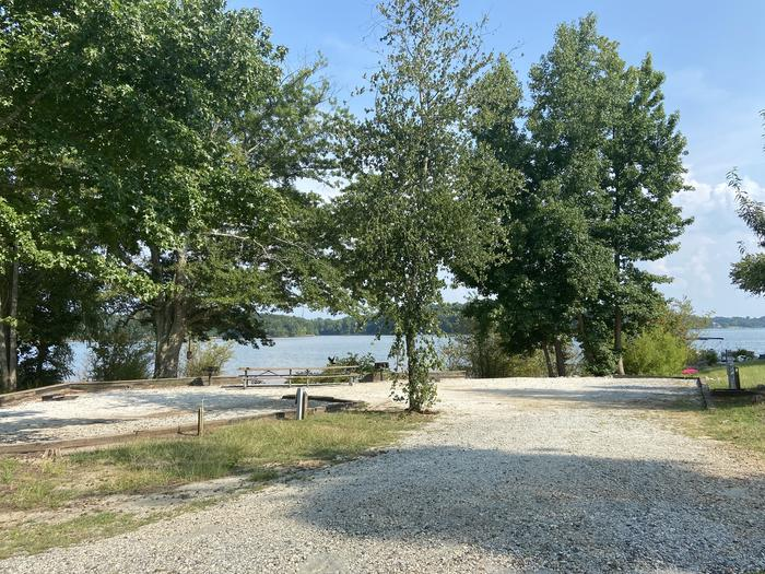 Double site:   A photo of Site 40 of Loop SPRINGFIELD  at SPRINGFIELD with Picnic Table, Electricity Hookup, Fire Pit, Shade, Tent Pad, Waterfront, Lantern Pole, Water Hookup