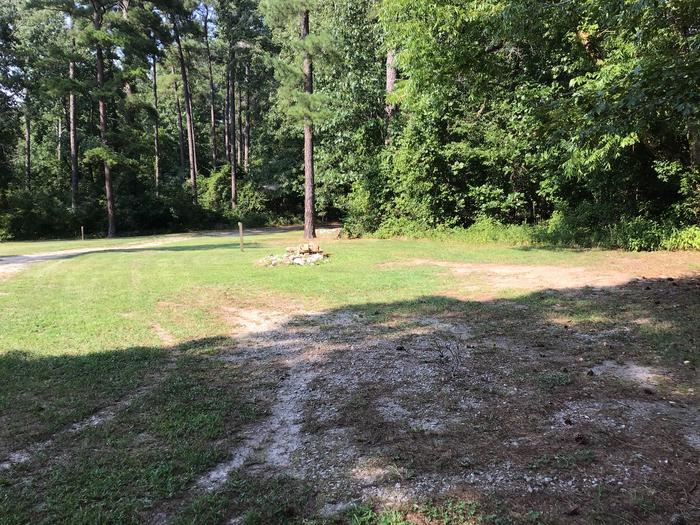 A photo of Site Site 02 of Loop Year round at Sedalia Campground (SC) with Fire Pit