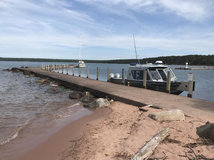 Preview photo of Apostle Islands Nl Boat Docking - Michigan Island