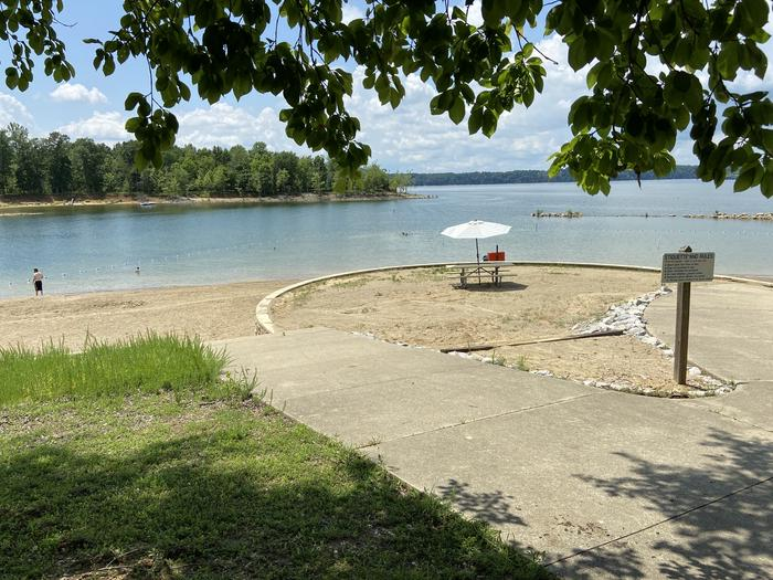 A photo of facility HARDIN RIDGE with Picnic Table, Shade, Waterfront, Lean To / Shelter