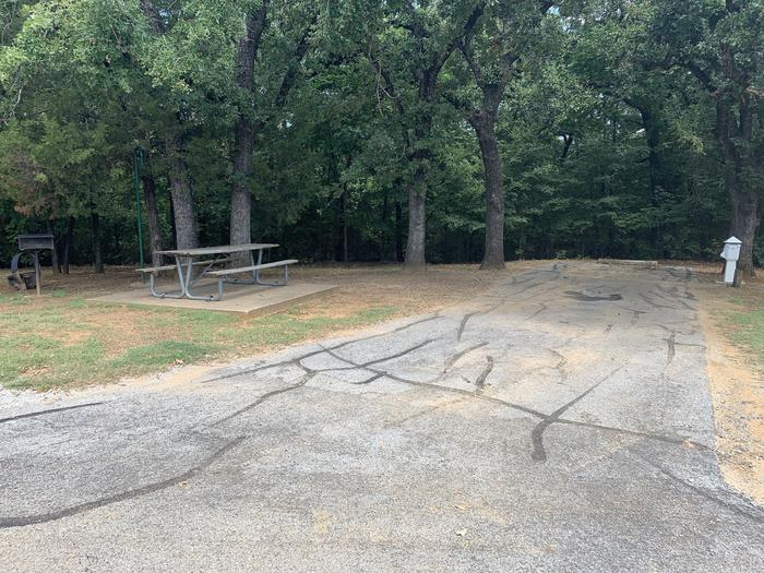 A photo of Site 110 of Loop HICKORY CREEK at HICKORY CREEK with Boat Ramp, Picnic Table, Electricity Hookup, Fire Pit, Lantern Pole, Water Hookup