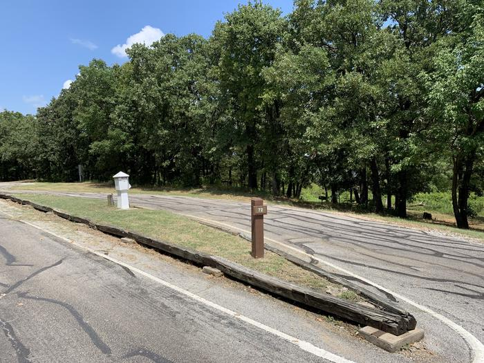 A photo of Site 072 of Loop HICKORY CREEK  at HICKORY CREEK with Boat Ramp, Picnic Table, Electricity Hookup, Fire Pit, Lantern Pole, Water Hookup, Lean To / Shelter