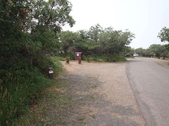Parking space of Campsite A-003