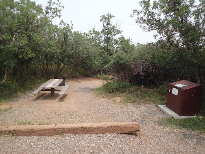 View of Campsite A-004 from parking space