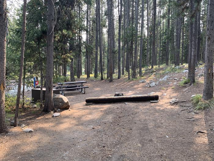 A photo of Site 26 of Loop Jenny Lake at Jenny Lake Campground with Picnic Table, Fire Pit, Food Storage, Tent Pad
