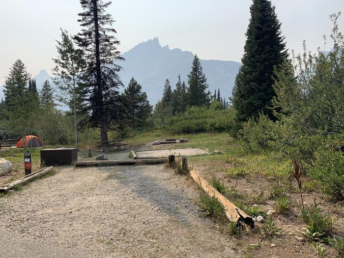A photo of Site 47 of Loop Jenny Lake at Jenny Lake Campground with Picnic Table, Fire Pit, Food Storage, Tent Pad