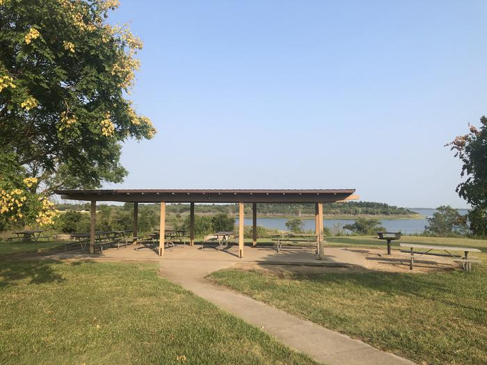 A photo of Site 4 of Loop EAST ROLLING HILLS PARK (KS) at EAST ROLLING HILLS PARK (KS) with Picnic Table, Lean To / Shelter