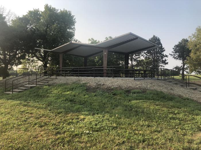 A photo of Site 1 of Loop EAST ROLLING HILLS PARK (KS) at EAST ROLLING HILLS PARK (KS) with Picnic Table, Lean To / Shelter