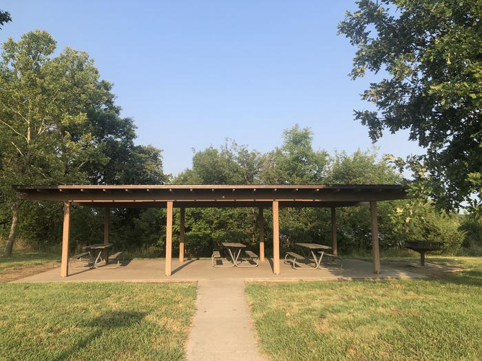 A photo of Site 2 of Loop EAST ROLLING HILLS PARK (KS) at EAST ROLLING HILLS PARK (KS) with Picnic Table, Lean To / Shelter