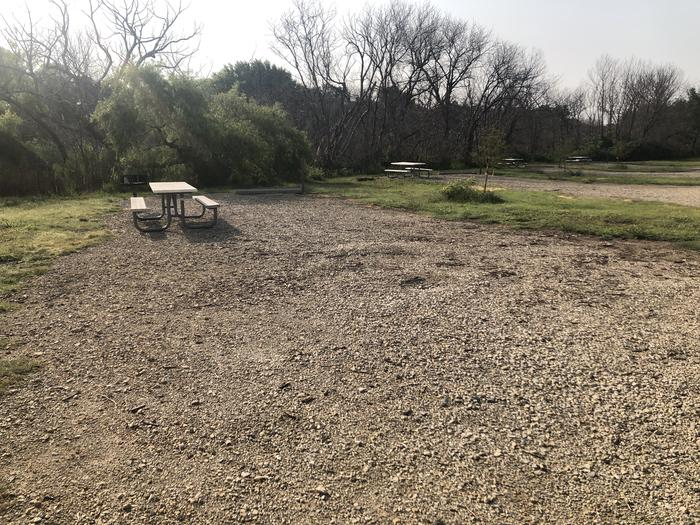 A photo of Site A-020 of Loop A at WEST ROLLING HILLS with Picnic Table, Fire Pit