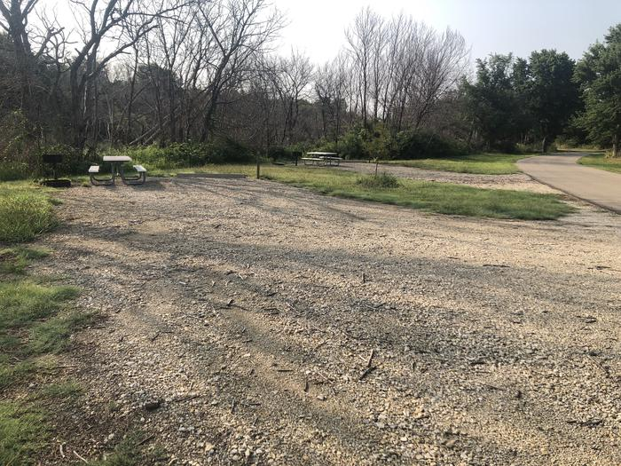 A photo of Site A-018 of Loop A at WEST ROLLING HILLS with Picnic Table, Fire Pit, Shade