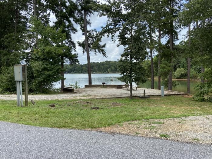 A photo of Site 03 of Loop SPRINGFIELD  at SPRINGFIELD with Picnic Table, Electricity Hookup, Fire Pit, Shade, Tent Pad, Waterfront, Lantern Pole, Water Hookup