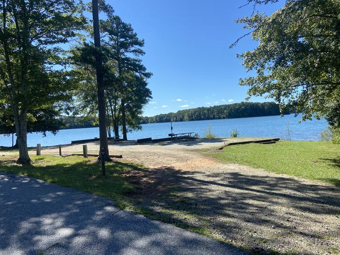 Double Site—A photo of Site 41 of Loop SPRINGFIELD  at SPRINGFIELD with Picnic Table, Electricity Hookup, Fire Pit, Shade, Tent Pad, Waterfront, Lantern Pole, Water Hookup