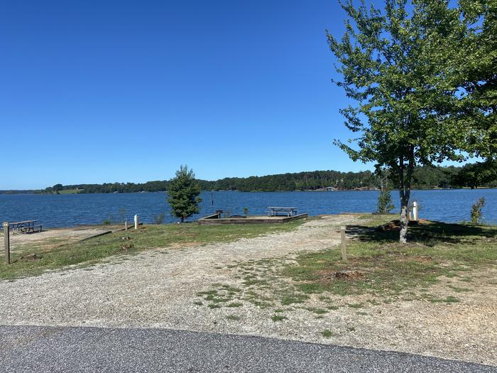 A photo of Site 33 of Loop SPRINGFIELD  at SPRINGFIELD with Picnic Table, Electricity Hookup, Fire Pit, Tent Pad, Waterfront, Lantern Pole, Water Hookup
