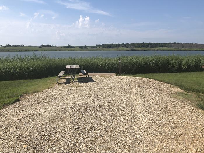 A photo of Site 12 of Loop A at School Creek Camground with Picnic Table, Fire Pit