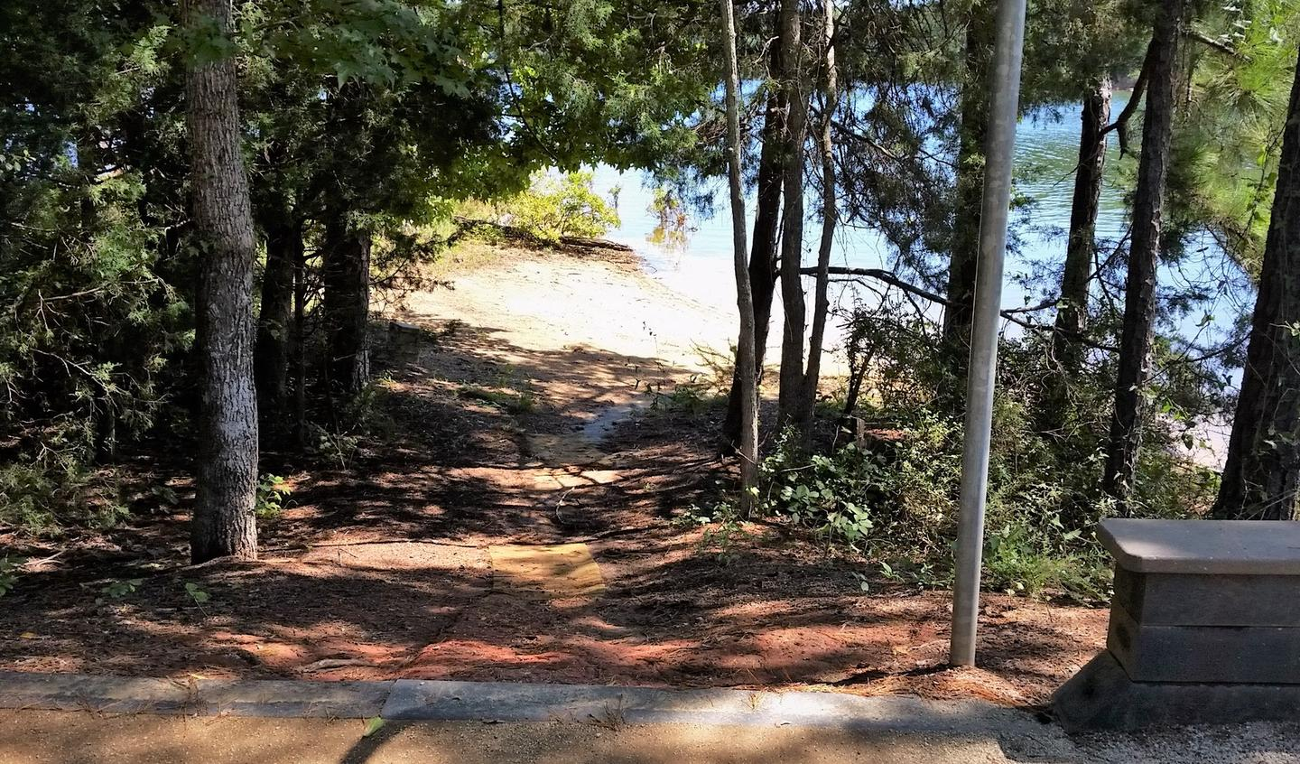 Site 16 Trail to the lake
