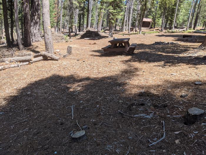 Wyandotte Site #27 Photo 2Site #27 with picnic table in view