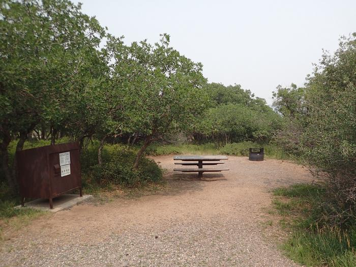 View of Campsite A-006 from parking area