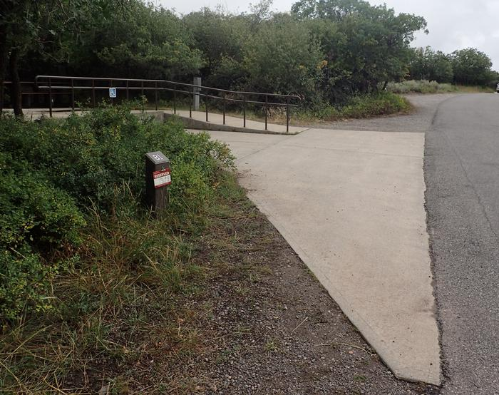 View of parking area for Campsite B-001