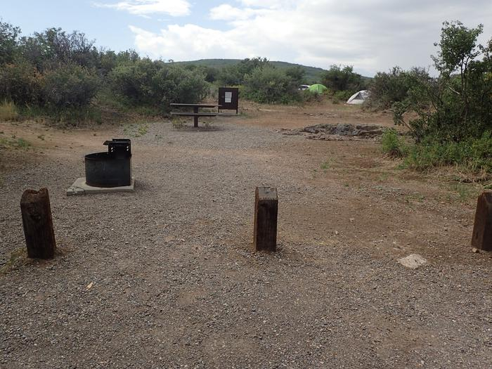 View of Campsite A-008 from parking area