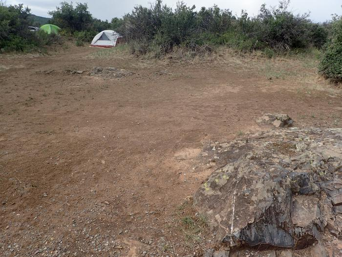 View of second optional tent space within Campsite A-008View of second optional tent space within Campsite A-008.  Please note that tents in background are in different sites.