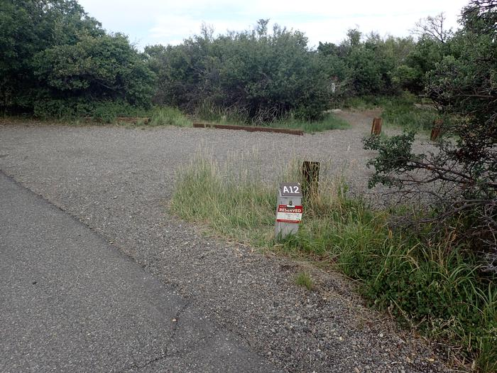 Drive-up view of Campsite A-012