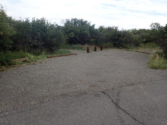 Parking area view of Campsite A-012