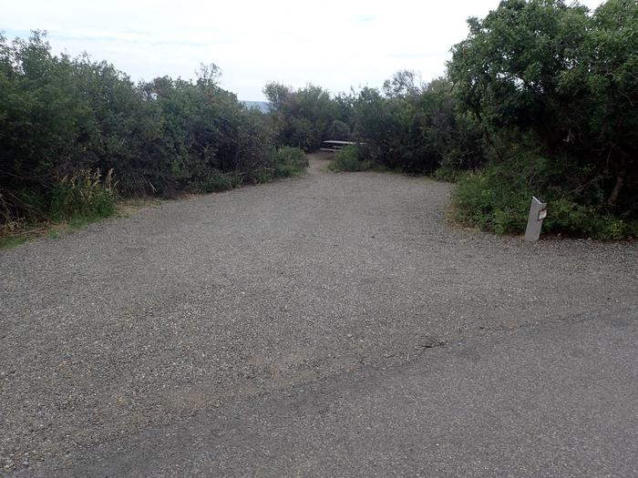 View of parking area for Campsite A-013
