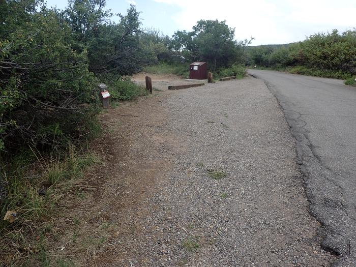 View of parking area for Campsite A-015