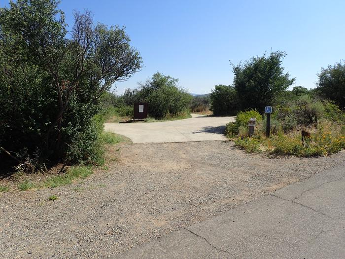 Drive-up view of Campsite A-021