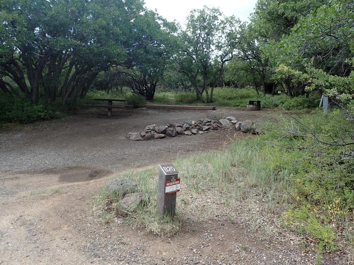 Drive-up image of Campsite B-020