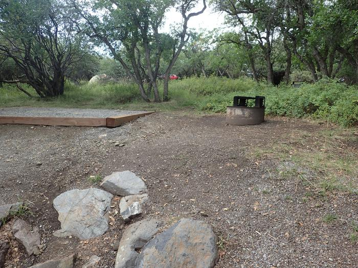 Second view of Campsite B-020 from parking area