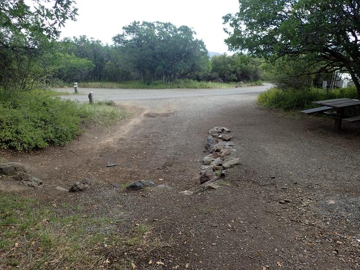 View of Campsite B-020 as looking towards road