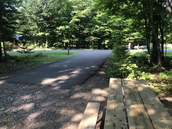 A photo of Site 014 of Loop 2 at Sylvania (Clark Lake) Campground with Picnic Table, Shade