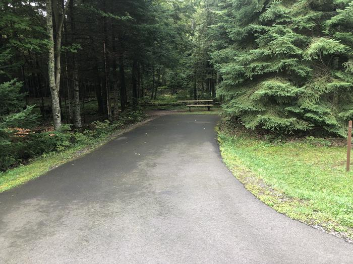 A photo of Site 019 of Loop 2 at Sylvania (Clark Lake) Campground with Picnic Table