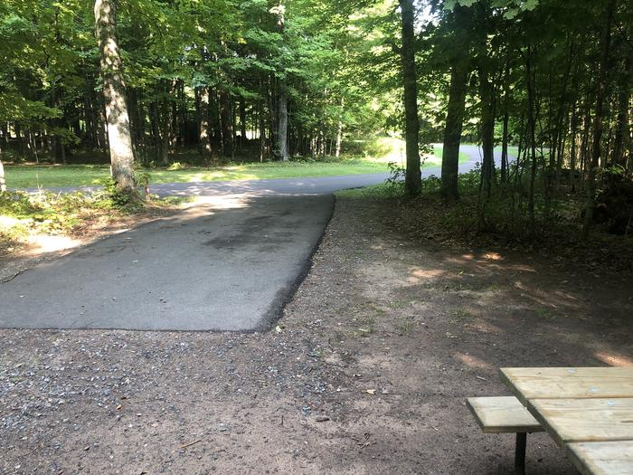 A photo of Site 010 of Loop 1 at Sylvania (Clark Lake) Campground with Picnic Table