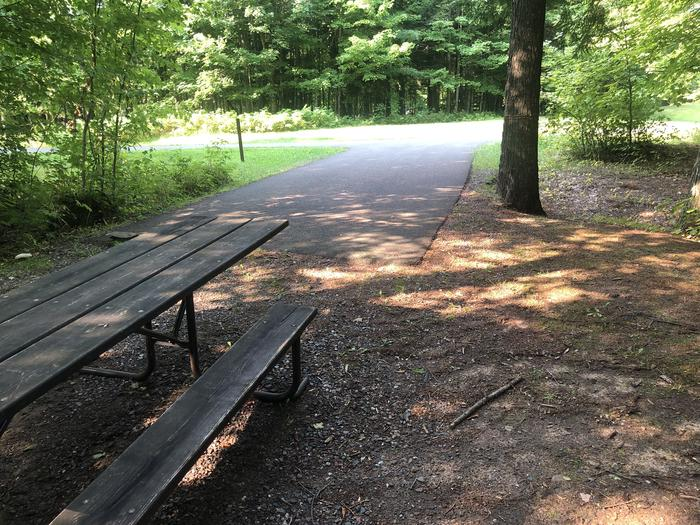 A photo of Site 012 of Loop 1 at Sylvania (Clark Lake) Campground with Picnic Table